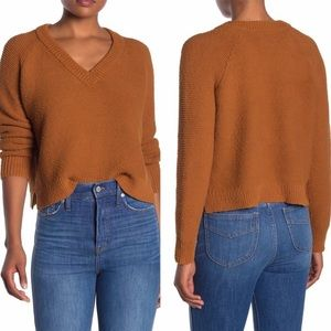 Madewell Arden vneck crop sweater pullover XS